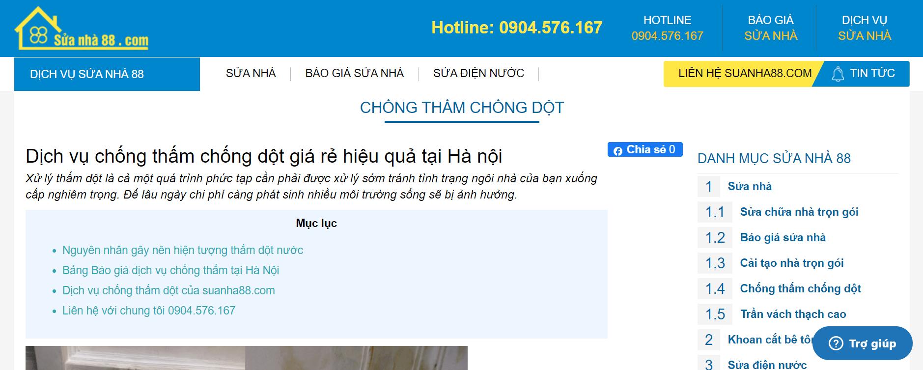 chống thấm nhà Hà Nội