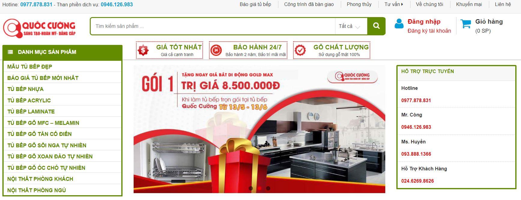 Tủ bếp Hà Nội