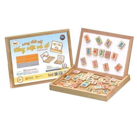 Hộp chữ cái và số đồ chơi giáo dục bé