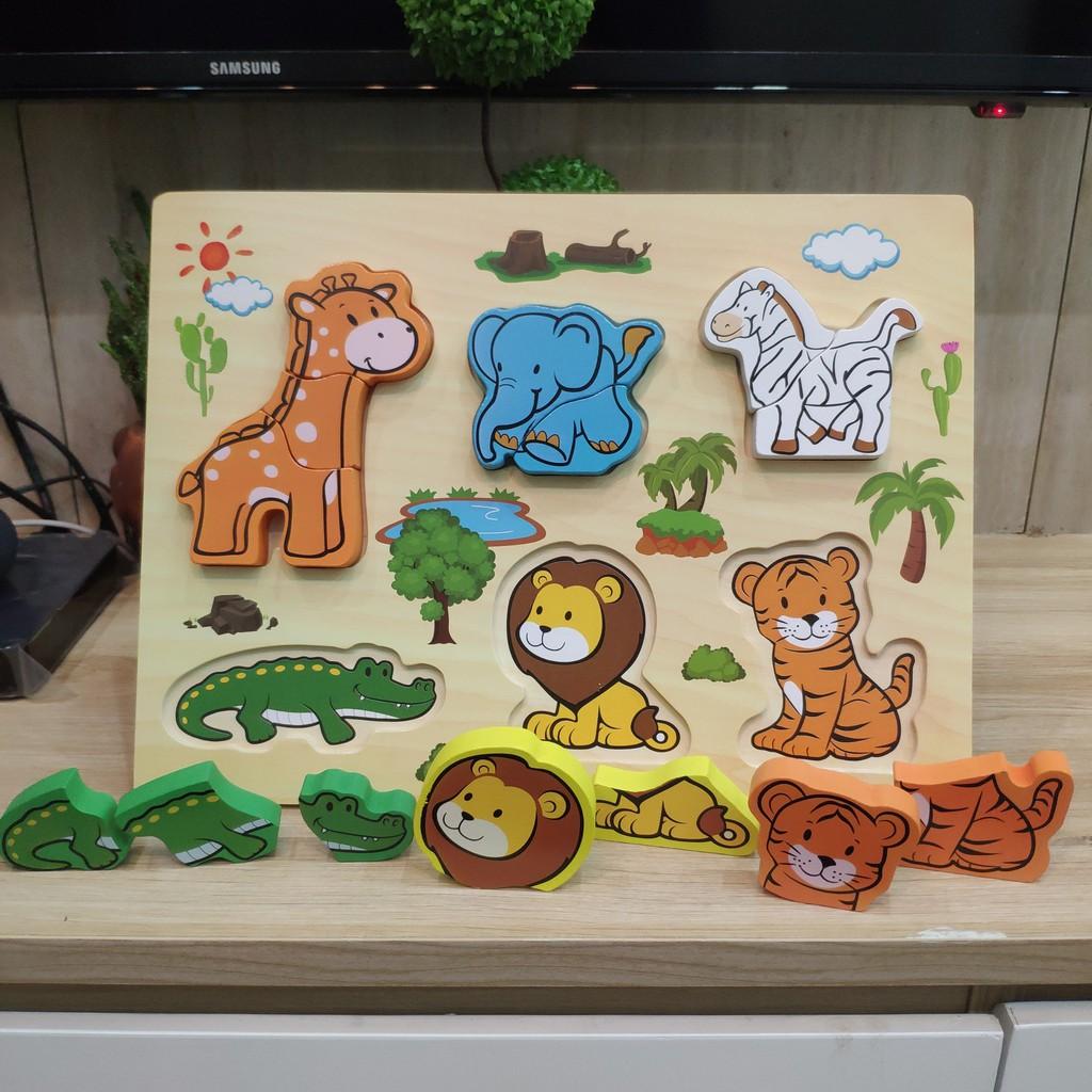 Bảng đồ chơi ghép gỗ hình con vật