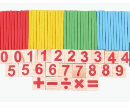 Hộp que tính đồ chơi toán học cho bé