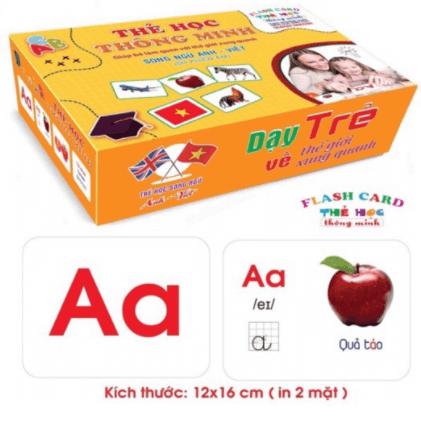 Thẻ học Tiếng Việt đồ chơi trí tuệ cho bé