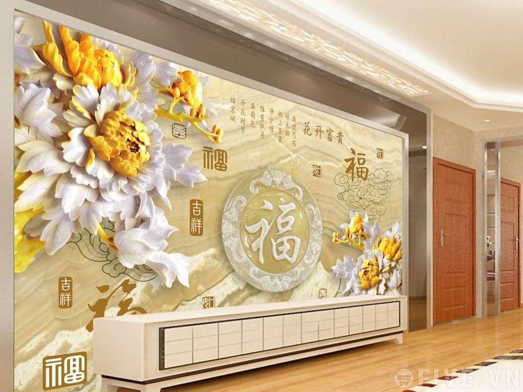 tranh dán tường 3D tại Hà Nội