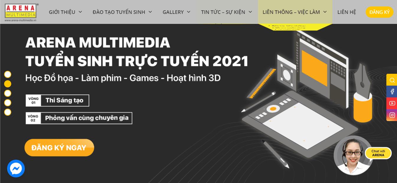khóa học thiết kế đồ họa ngắn hạn Hà Nội - Arena Multimedia