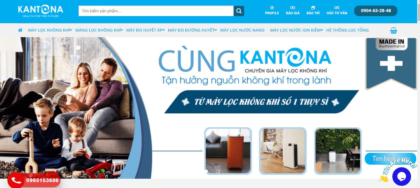 máy lọc không khí Hà Nội - Kantona