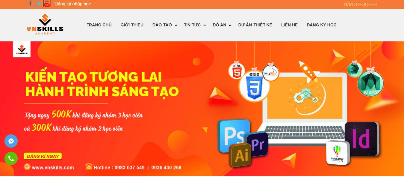 khóa học thiết kế đồ họa ngắn hạn Hà Nội - VN Skills
