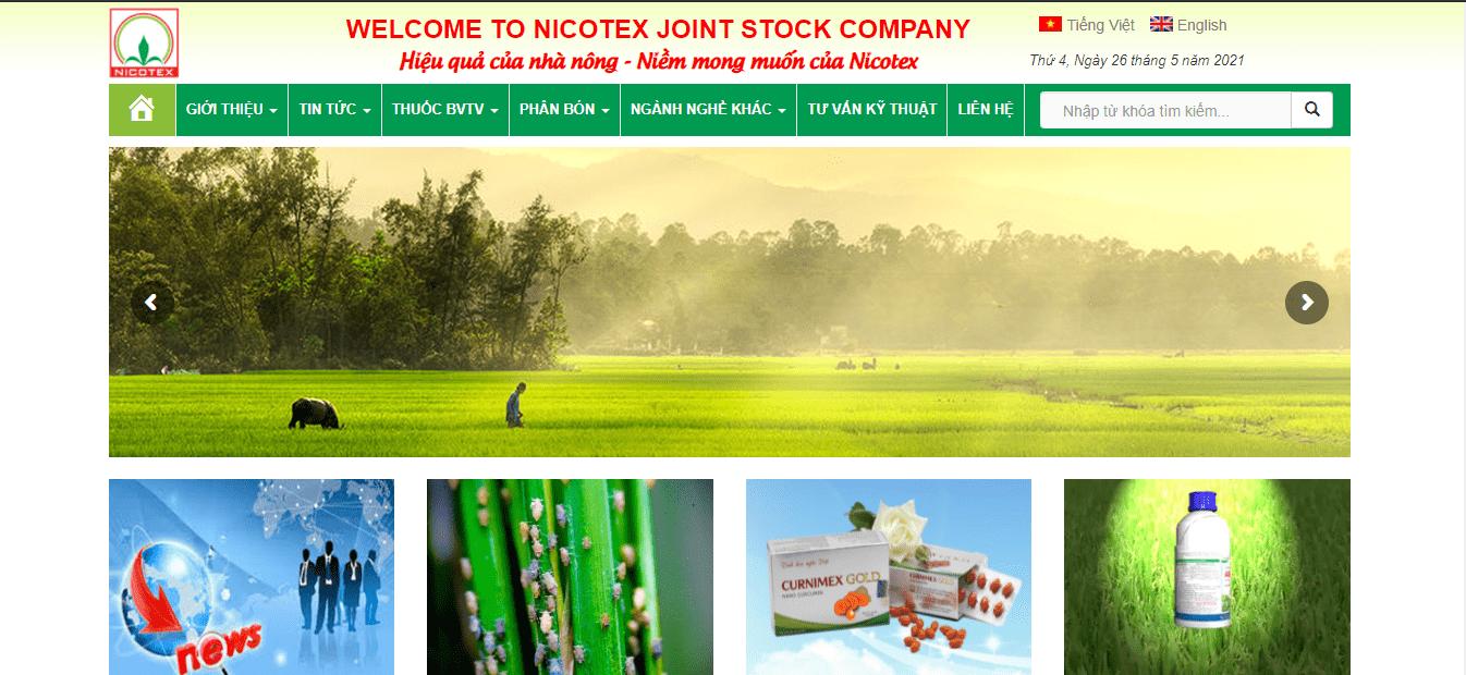 đại lý phân bón Hà Nội - Nicotex