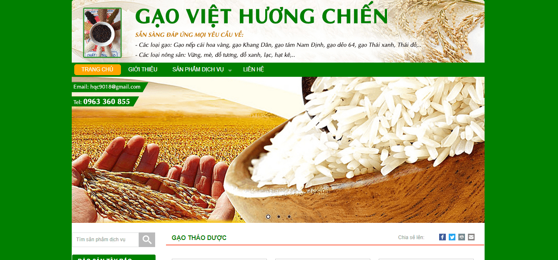 đại lý gạo Hà Nội - Hương Chiến