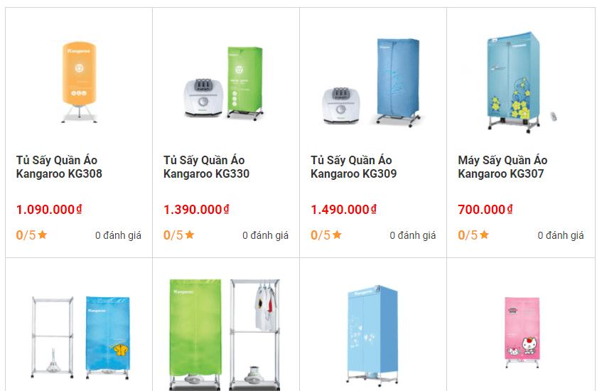 tủ sấy quần áo Hà Nội - Thiên Phú