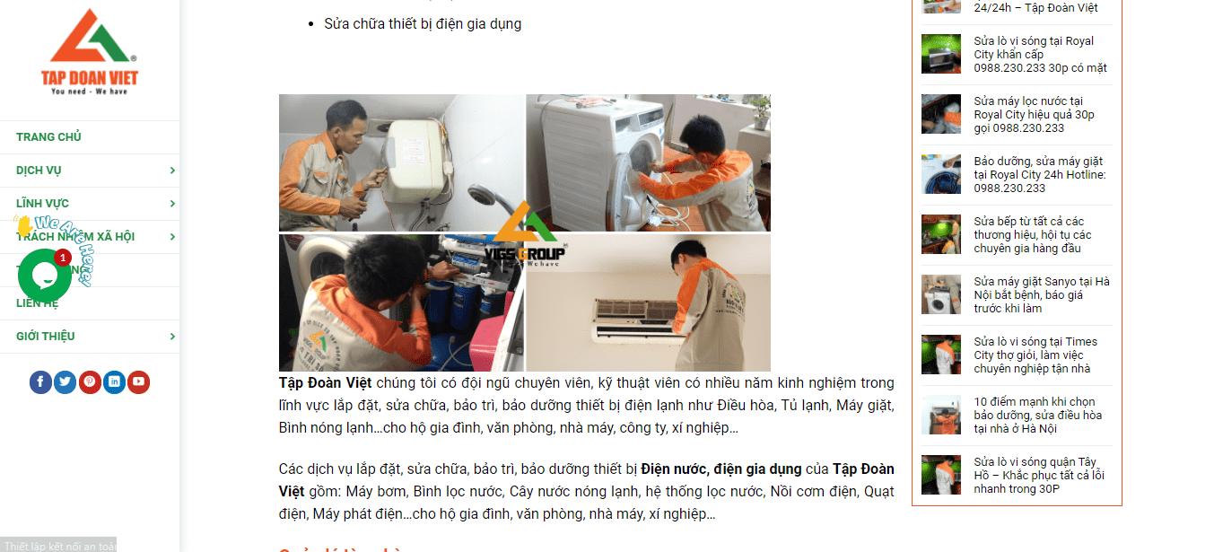 máy lọc nước gia đình Hà Nội - Tập Đoàn Việt